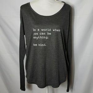 "Tops - OM & AH London ""Be Kind"" Long Sleeve Tee"